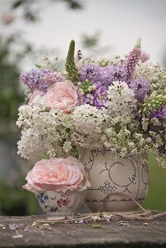 God bless the flowers...