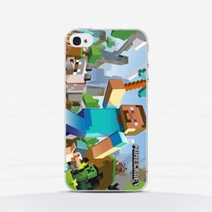 #Minecraft phone case, available for iPhone and other smartphones, sharp details and super durable materials for $16 only. visit our etsy shop or order at latrendmania.com, wordlwide shipping