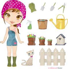 Doll Gardening by ~Melisendevector on deviantART
