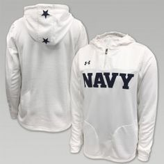 The Navy Under Armour Rivalry Mens Hooded Zip in white is one of many great Navy Under Armour items available. Shop the entire collection and enjoy fast shipping and easy returns/exchanges. Navy Military, Military Wife, Army & Navy, Us Navy Apparel, Usmc Clothing, Us Navy Shirts, Navy Gear, Navy Football, Grunt Style