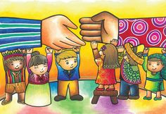 """""""Bringing hands together, Bridging gaps forever"""" by Jamia Mei Tolentino. A winner of 'Embracing Our Differnances' Hands Together, Outdoor Art, Different, Peace And Love, Bring It On, Exhibit, Philippines, Artist, Happiness"""