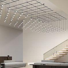 Suspenders Square Gridscape Monoline Ball Pendants by SONNEMAN Lighting - Color: Satin Black - Finish: Satin Black - Interior Lighting, Modern Lighting, Lighting Design, Plafond Design, Interior Architecture, Interior Design, Deco Design, Overhead Lighting, Ceiling Design