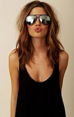 //perfect length for summer-makes me want shorter hair. keep those natural waves maintained with sea salt spray