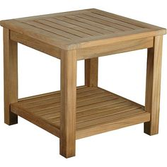 Display a stack of magazines or your favorite collectibles on this high-quality teak side table. The table is made from solid wood, making it an ideal choice for people who want the real thing.