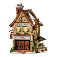 Item Number: 56.58753 Material: Porcelain Dimensions: 5.00 x 7.25 x 4.75 inches Weight: 2.15 lb Let there be music in the Village! The detailed interior scene shows some of the fine musical wares of t