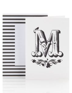 Letter M Blank Greetings Card | M&S