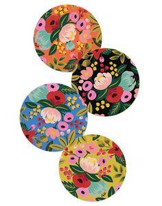 Rifle Paper Co. Floral Coaster Set, all prints Floral Illustrations, Illustration Art, Posca Art, Motif Floral, Rifle Paper Co, Pottery Painting, Coaster Set, Diy Art, Flower Art