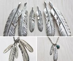 Silver feather pendants - a symbol of freedom and bohemian spirit!  Check out our collection at http://etsy.me/2ogmeyb  We send it in a Natural Kraft Jewelry box.    #necklace  #pendant  #feather