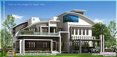 Kerala home design and floor plans: Contemporary luxury house elevation in 4280 square...