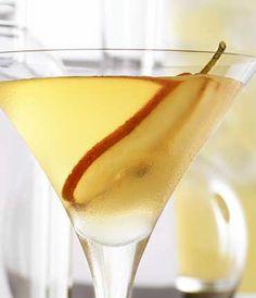 Peartini by Grey Goose. 2 parts Grey Goose La Poire (pear), 1/4 part Disaronno originale, 3/4 part simple syrup, 3/4 part fresh lemon juice. Combine, shake, strain.