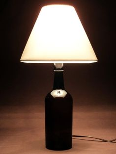 wine bottle lamps | Upcycled Wine Bottle Lamp