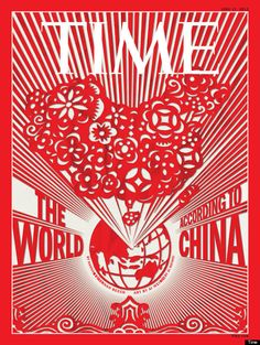 """Dissident artist Ai Weiwei's cover on China for Time magazine used the ancient Chinese art of papercutting. """"'The image represents Ai's acknowledgment of the country's centrality in the world, while at the same time challenging China's leaders to make the future a freer and more democratic one,'"""" according to Time Editor Rick Stengel. Caption at link"""