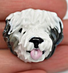 XL lampwork glass focal bead Dall Sheep lampwork by IzzyBeads