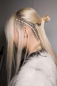 "dkny: "" Beauty details at the Fall 2016 Show "" Pelo Editorial, Hair Rings, Business Fashion, Hair Extensions, Locks, Hair Inspiration, Catwalk, Short Hair Styles, Hair Makeup"