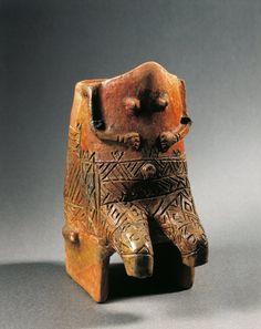 Prehistory Hungary Neolithic Tisza culture Terracotta statuette of... Fotografía de noticias 122223354 | Getty Images