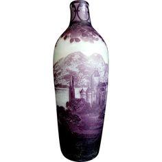 DeVez Scenic Cameo Vase with Rustic Castle Scene
