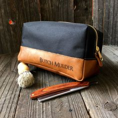 49dcbb85a5 Leather Dopp Kit - Mens Toiletry Bag - Groomsmen Gifts - Canvas Travel Bag…  Dopp