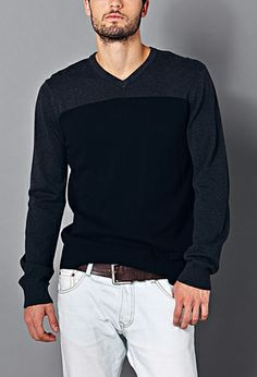 Classic Colorblocked Sweater   21 MEN - 2000074281