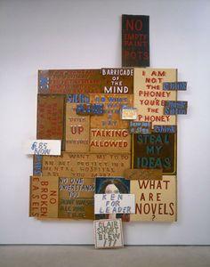 Art and writing on the walls. Bob and Roberta Smith.
