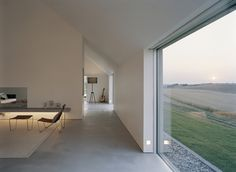 window to t.o. wall / spring point of pitched roof & deep interior openings (i.e. existing rammed earth) Interior Architecture, Interior And Exterior, Ancient Architecture, Sustainable Architecture, Landscape Architecture, John Pawson Architect, Interior Minimalista, Minimalist Interior, Modern Minimalist
