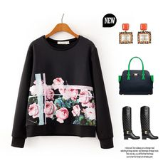Find More Hoodies & Sweatshirts Information about 2015 Fashion Women Hoody Flower Print Pullovers O Neck Long Sleeve Hoodies (Chinalace SY072),High Quality hoodies female,China hoodie women Suppliers, Cheap hoody skull from Huangshan Chinashow Flying Shuttle Co.,Ltd. on Aliexpress.com