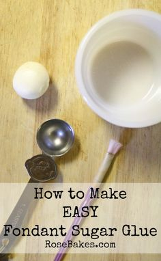 How to Make Fondant Sugar Glue to stick decorations on a cake.