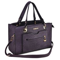 Sally Young Classic Handbag With Croco Pocket - Purple Classic Handbags, Young Designers, Sally, Really Cool Stuff, Latest Fashion, Pocket, Purple, Collection, Vintage Handbags