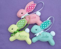 Felt Easter Bunny  Easter   One Bunny Decoration  by FlossyTots