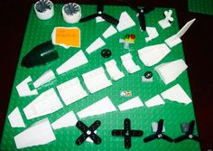 Lego airplane lego space shuttle wing lego fin tip paper craft project
