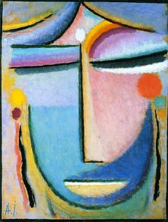 Large Abstract Head Paintings   Alexei Jawlensky paintings