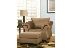 Tan Darcy Chair by Ashley HomeStore, Polyester (100 %)