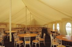 Inside our Pole tent.