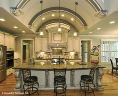 Gourmet kitchen with island The Sylvan home plan 1321