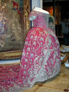 Red coronation gown of Empress Catherine 1st of russia