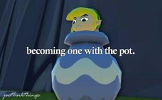 Becoming one with the pot :)