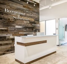 The Maddox Gloss White Reception Counter