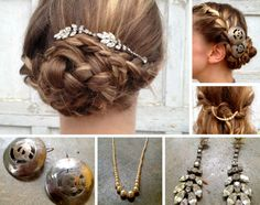 Accesorize your DIY wedding hairstyle out of your jewelry box  peinados de novia