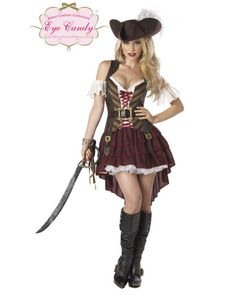 Sexy Womens Pirate Swashbuckler Costume,$41.96