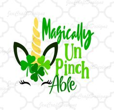 Paddys UnPinchAble School No Pinching svg St Patricks Silhouette Machine, Silhouette Studio, Silhouette Cameo, Sant Patrick, Turkey Disguise, Vinyl Board, Anchor Monogram, St Paddys, Silhouette Images