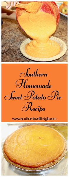 In the South a sweet potato pie can be made any time of the year. It's the perfect southern dessert, it's popular, and delicious. This pie recipe is easy and made completely from scratch. I've never met anyone that could turn down a piece of go Old Fashion Sweet Potato Pie Recipe, Homemade Sweet Potato Pie, Sweet Potato Recipes, Southern Sweet Potato Pie, Homemade Pie, Easy Pie Recipes, Cake Recipes, Dessert Recipes, Tiramisu Caramel