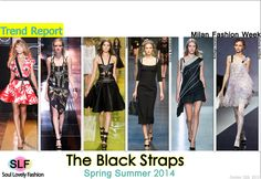 The Black Straps #Fashion#Trend for Spring Summer 2014  #spring2014 #trends