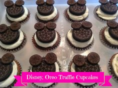 Sisters' Sweet and Tasty Temptations: Disney, Oreo Truffle Cupcakes