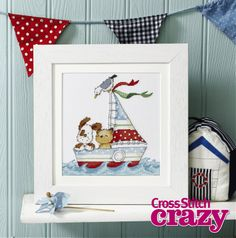Set sail with Helz Cuppleditch's cute Pepper and Friends design, exclusive to Crazy 190!