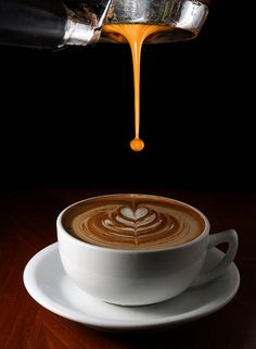 Awesome shot! Logo-like. Duplicate but change drink (espresso goes in first, then design)? Permission from photographer?