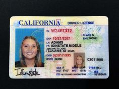 We only sell the highest quality fake IDs. Our fake ids copy all the security features that real drivers license have. Every order comes with a free duplicate fake ID! Ca Drivers License, Drivers License California, Driver License Online, Driver's License, Passport Template, Id Card Template, Passport Card, Lancaster, Fake Identity