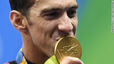 U.S. Swimmer Michael Phelps earns his 19th Olympic Gold Medal with the U.S. Mens 4x100 Relay Team in Rio.