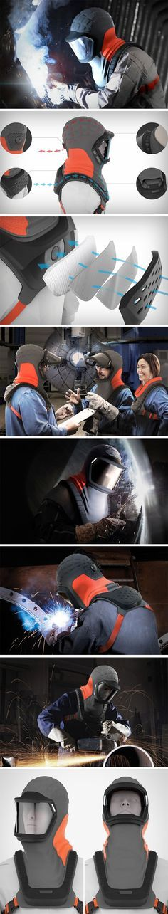 Beinerts' Falcon welding mask is a breath of fresh air when it comes to safety… – Shop Ideas – Business Ideas Welding Trucks, Welding Gear, Welding Helmet, Welding Tips, Welding Table, Welding Shop, Metal Projects, Welding Projects, Module Design