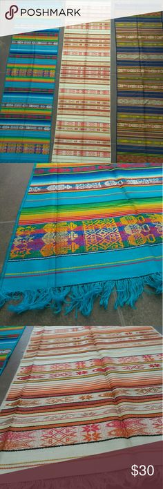 """Ecuadorian handmade wall art/ tapestry/runner Brand new handwoven on loom. Tapestries brought back from Ecuador. I love using them as fun pops of color in my home, table runner or dresser runner. Great for hanging on the wall as well. Beautiful Andean textiles let me know which color you like! 66""""x20"""" Accessories"""