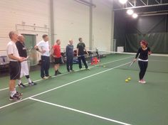 One of the tennis class exams during the club level coaching course. Coaching, Tennis, Club, Sports, Training, Hs Sports, Sport