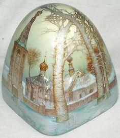 Kozlov Sergey, Fedoskino lacquer box, Winter in Suzdal